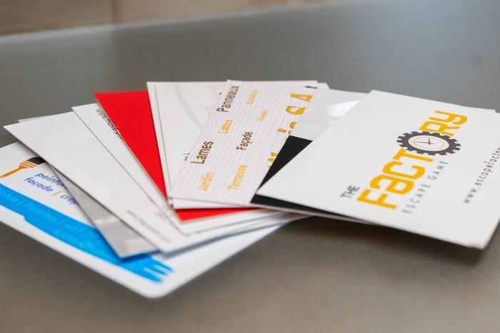 Cartes De Visite Papier Ou Plastique Diverses Finitions